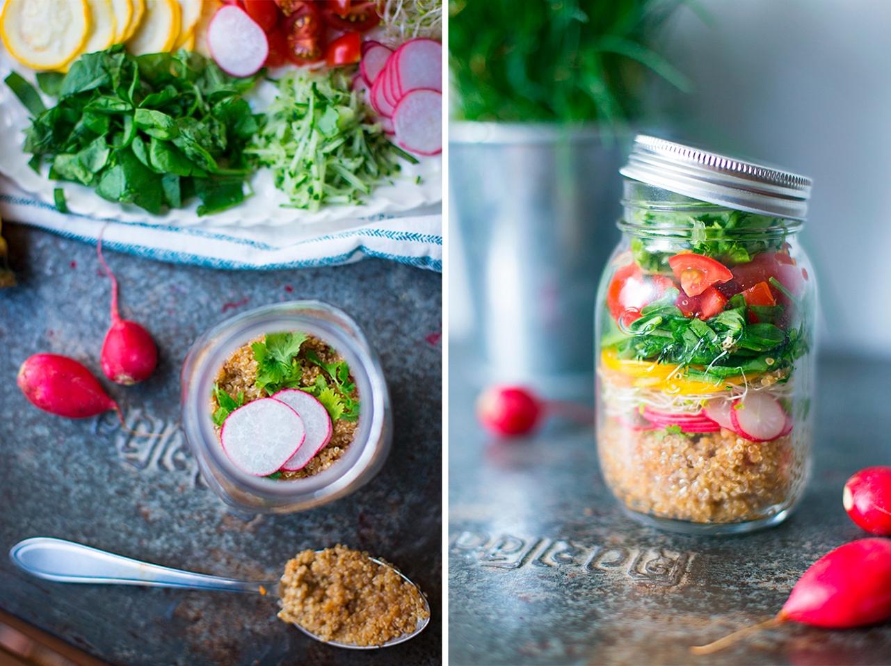 Salát s quinou s asijským dresinkem