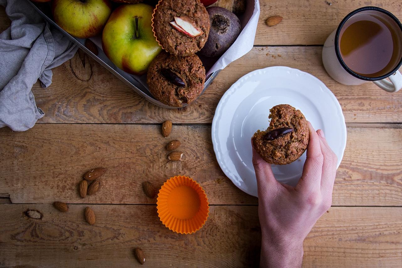 Bezlepkové muffiny - petržel, řepa, jablko