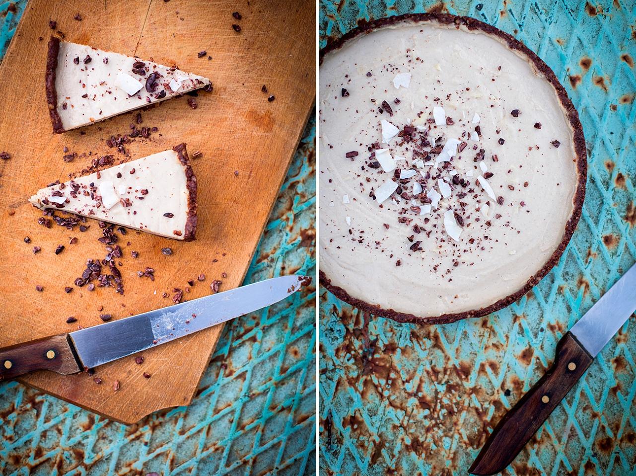 Nepečený (raw) straciatella dort