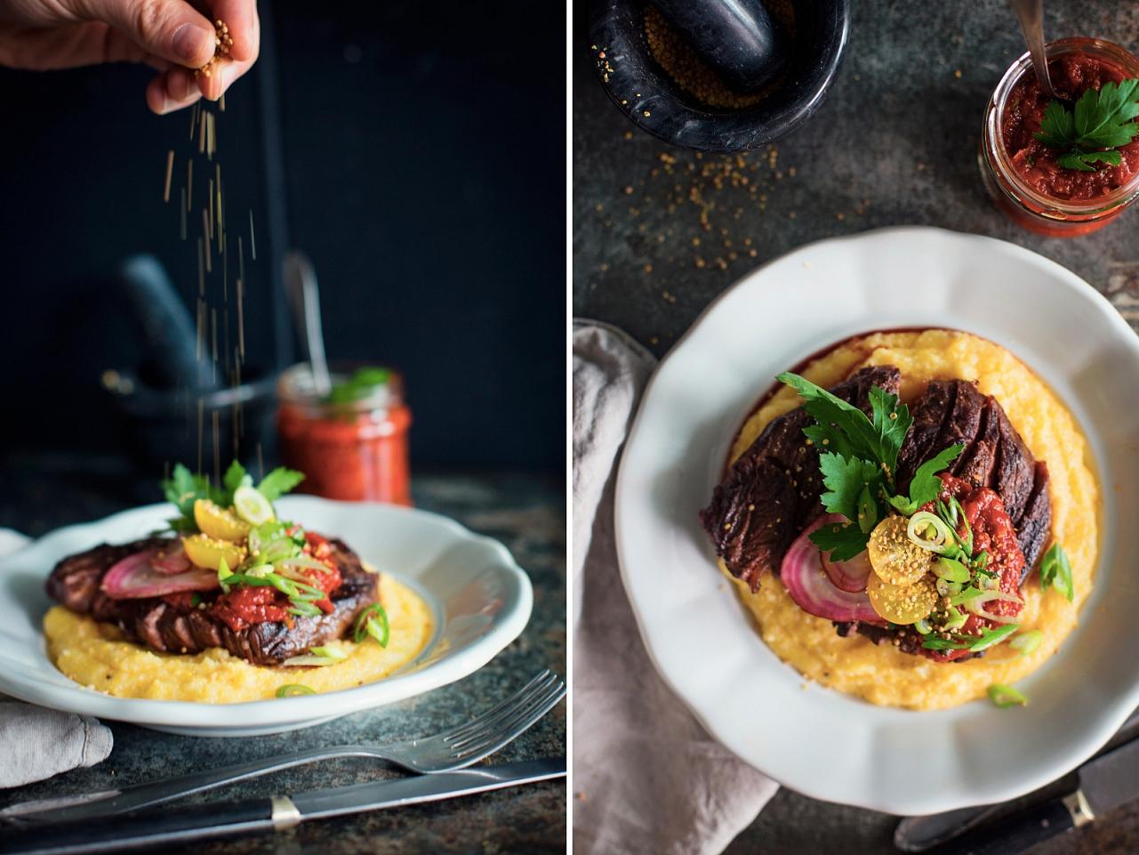 Steak v kakau s rajčatovou salsou