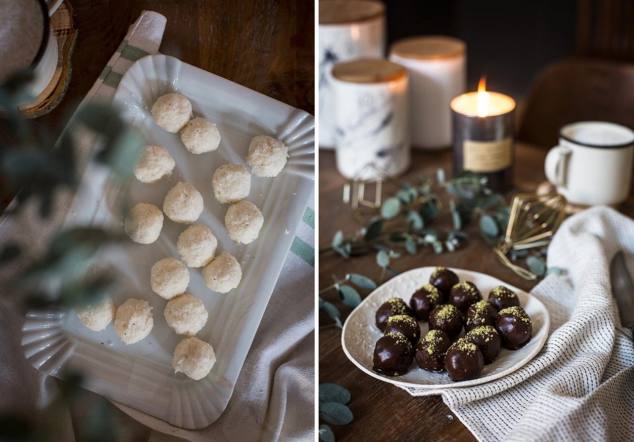 Nepečené cukroví - kokosové kuličky v čokoládě