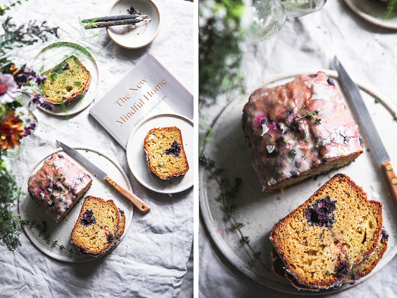 Limetkový chlebíček s tymiánem a ovocem