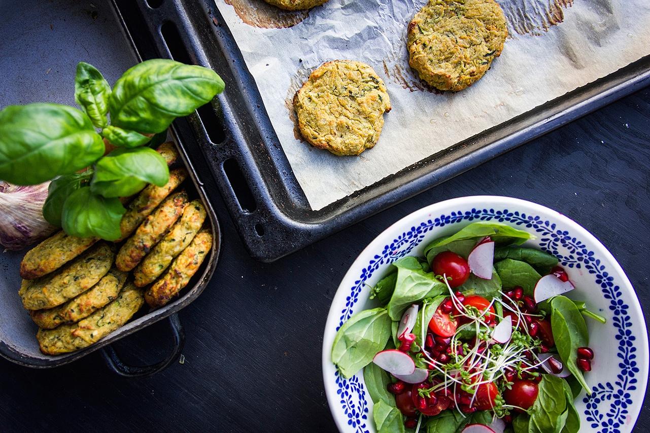 Zeleninové placky - batáty, mrkev, cuketa